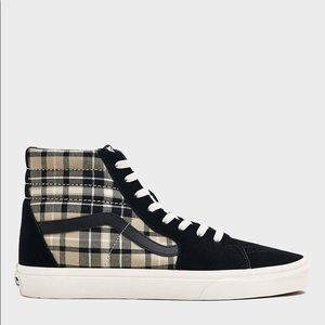 Vans Sk8 Hi Plaid Twill NWT Men's size 8.5